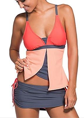 Women Swimsuit Tankini Two Pieces With Boyshorts Bikini Bottoms Prime's Choice