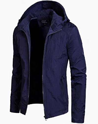 Size Plus AS4 Jacket XINHEO Outwear Hood Men's Full Classic zip Windbreaker BqFRCwPB