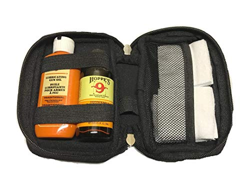 Hoppes, Westlake Market Gun Bore Cleaner and Lubricating Oil with 40-50 Patches and Neoprene Case for .38, 9mm.40.44 and .45 Caliber Handguns/Pistols/Rifles/Shotguns