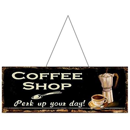 Ellas-Wohnwelt - Cartel de Metal con Texto Coffee Shop ...