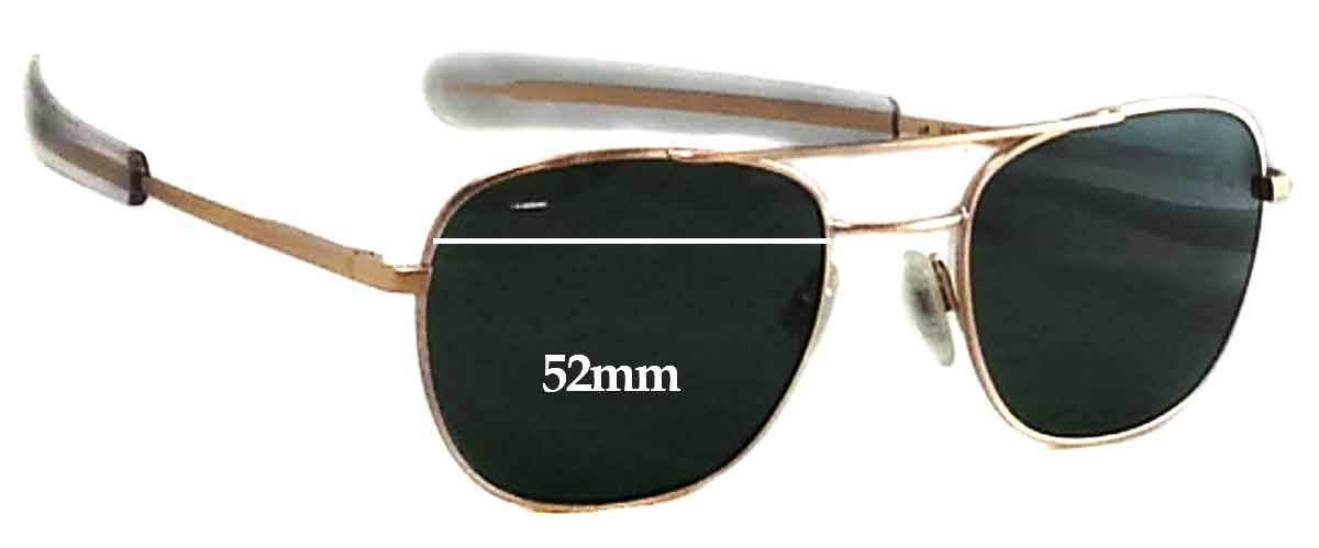 ff4130cb2f3a Amazon.com: SFx Replacement Sunglass Lenses fits Randolph Engineering  Aviator RE FGN 52mm wide (Polycarbonate Clear Hardcoat Pair-Regular):  Clothing