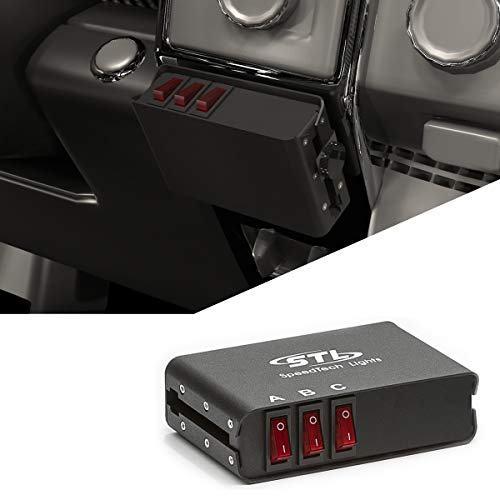 SpeedTech Lights 3 Switch Box Controller with 3 Panel Backlit LED Switch Box with 2 On/Off and 1 Momentary Switches