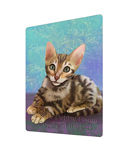 Bengal Cat Art Portrait Print Woven Throw Sherpa Plush Fleece Blanket (60x80 Fleece)