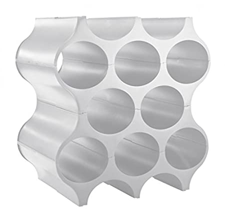 koziol Set-Up, scaffale porta bottiglie Set Up, solid cool grey, 23 x 35.299999999999997 x 36.4 cm 3596632