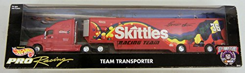 Hot Wheels Pro 50th Anniversary NASCAR Team Transporter Skittles Racing Team 1:64 -  20279