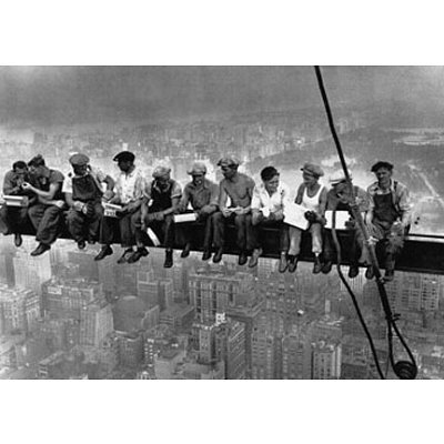 Lunch Atop a Skyscraper, c.1932 Art Poster Print by Charles C. Ebbets, 14x11