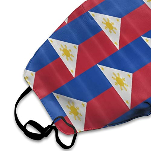 NOT Liner Philippines Flag PM2.5 Mask, Adjustable Warm Face Mask Unique Cover Filters Blocking Pollen Pollution Germs£¬Can Be Washed Reusable Pollen Masks Cotton Mouth Mask for Men Women