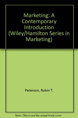 Marketing: A Contemporary Introduction (Wiley/Hamilton Series in Marketing)