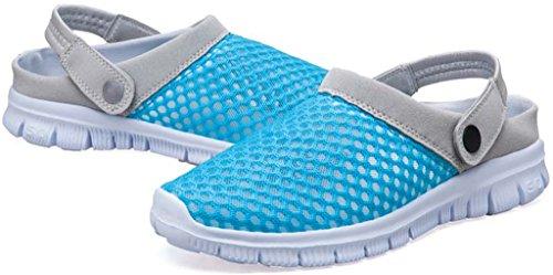 Eagsouni Unisex-Erwachsene Breathable Mesh Hausschuhe Sandalen Freizeit Clogs und Pantoletten Schuhe Sommer Himmelblau