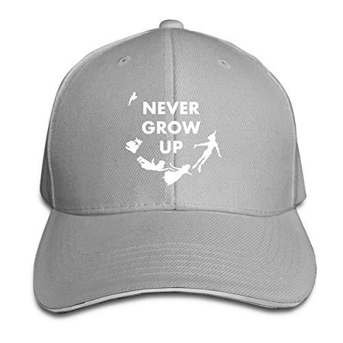 Peter Pan Never Grow Up Sandwich Hats Baseball Cap Hat Snapback Hat Dad Hat Gray