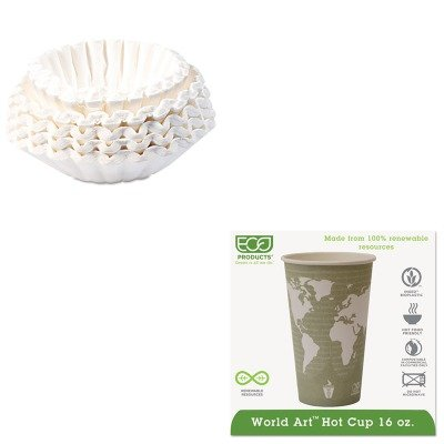 KITBUN1M5002ECOEPBHC16WA - Value Kit - ECO-PRODUCTS,INC. World Art Hot Cups (ECOEPBHC16WA) and Bunn Coffee Commercial Coffee Filters (BUN1M5002) by Eco-Products, Inc