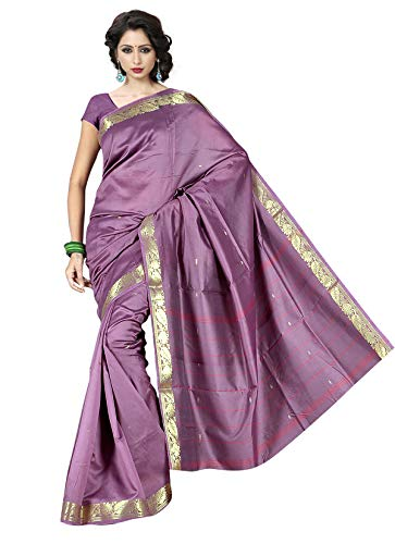 KoC Indian Traditional Ethnic Women wear Art Silk Saree -Lilac