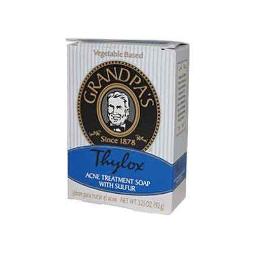 New - Grandpa's Thylox Acne Treatment Bar Soap with Sulfur - 3.25 oz