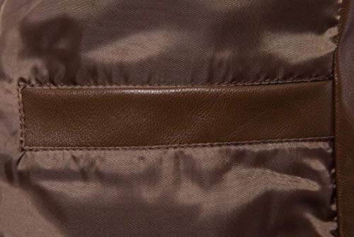 Veste Large Motard De Homme Taille Kangqi Cuir En Hommes Vêtements Pour couleur Synthétique Brown qnx66OFt