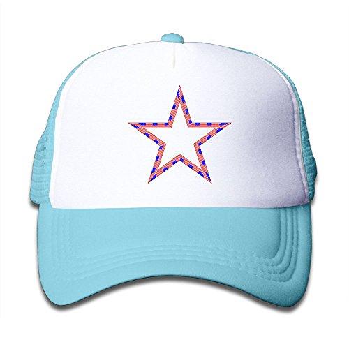 Kid's USA Flag Star Trucker Baseball Cap Adjustable Mesh Hat Girl Boy
