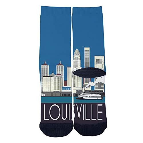 Men's Women's Custom Louisville Art Skyline Poster Socks