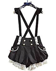 GK-O Kawaii Girls Lolita Suspender Lace Pumpkin Shorts Cute Lantern Pants