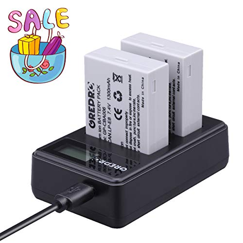 LP-E8 Battery (2 Pack) and Dual USB Charger Set for Canon Camera Rechargeable Lithium-Ion Battery Kit 100% Compatible for Canon EOS 550D, EOS 600D, EOS 700D, EOS Rebel T2i, EOS Rebel T3i, T4i, T5i