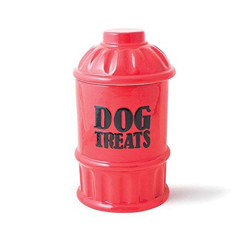 Burton and Burton 9733309 Fire Hydrant Dog Treats Cookie Jar, Red