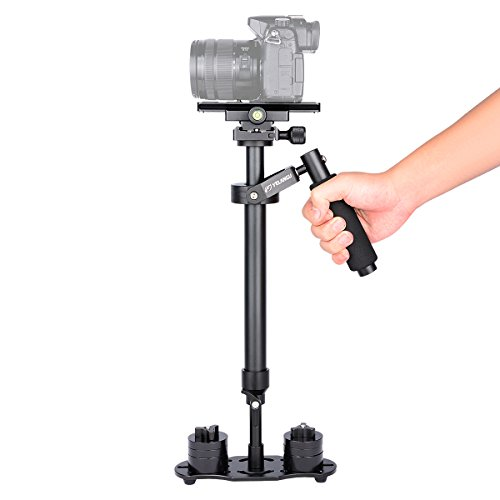 YELANGU 24''/60cm Pro Version Handheld Camera Stabilizer with Quick Release Plate for Camera Video DSLR Nikon, Canon, Sony, Panasonic