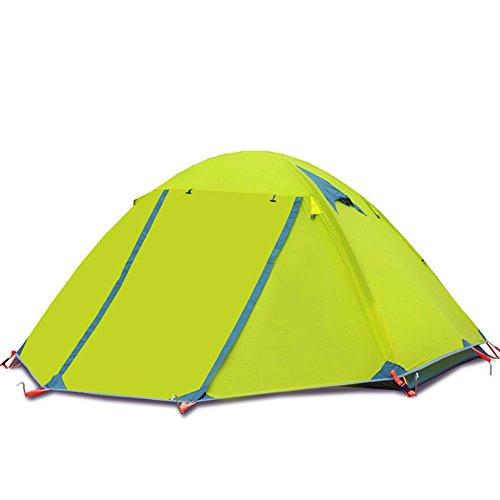 見つける想定する征服者TLMY キャンプキャンプテント屋外ダブル3-4ダブルアルミポール野生windproof嵐雨防水テント テント