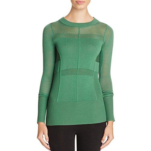 Dkny Wool Cardigan (DKNY Womens Merino Wool Ribbed Mock Turtleneck Sweater Green S)