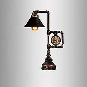 Retro LOFT Lámpara de mesa Luz de escritorio Lámpara de mesita de ...
