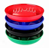 Set of 4 Colors Round Plastic Cigarette & Cigar Ashtray Tabletop Ash Tray