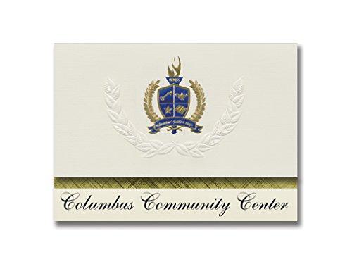 nts Columbus Community Center (Salt Lake City, UT) Graduation Announcements, Presidential style, Elite package of 25 with Gold & Blue Metallic Foil seal (Columbus City Center)