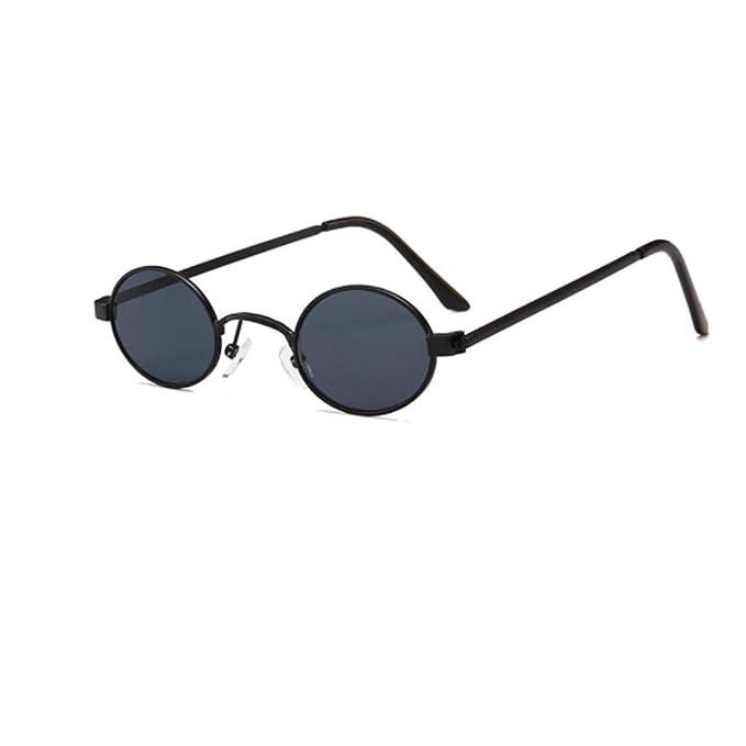 Gafas de sol ovaladas pequeñas, redondas, montura de metal ...