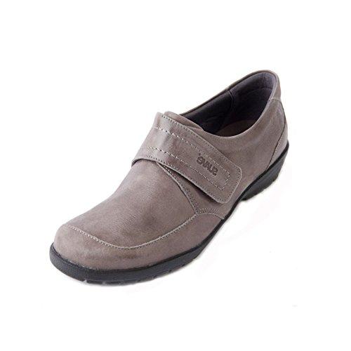 Zapatos Suave Cordones Gris Para Charol Mujer De SxxqwPA
