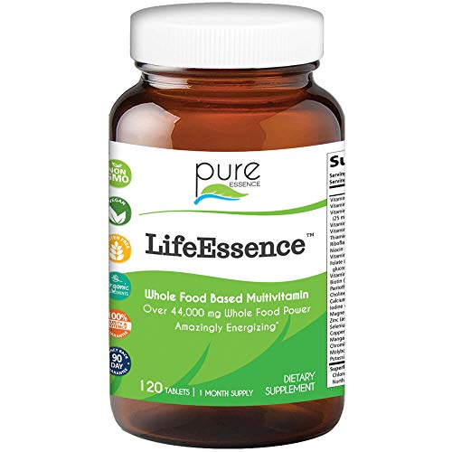 Pure Essence Labs LifeEssence Multivitamin for Women and Men – Natural Herbal Supplement with Vitamin D, D3, B12, Biotin – 120 Tablets