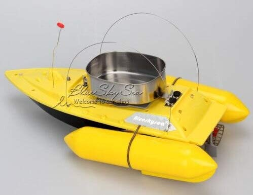 Blueskysea Smart RC Bait Boat Fish Finder Barco Remote Control Fishing Boats Fishing Tool Speedboat RC Ship Toys Extra Battery Yellow