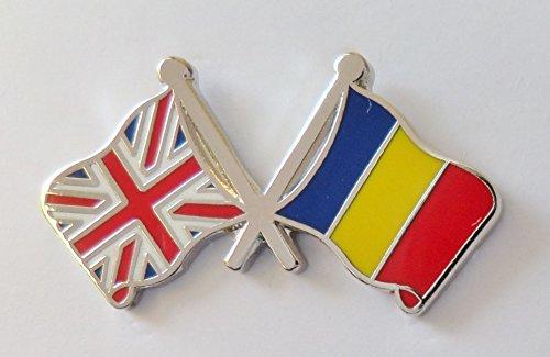 Épinglette amp; uni Drapeau Courtoisie Roumanie Amitié Royaume S4Yqt5w