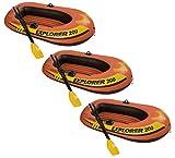 3) INTEX Explorer 200 Inflatable Two Person Raft Set
