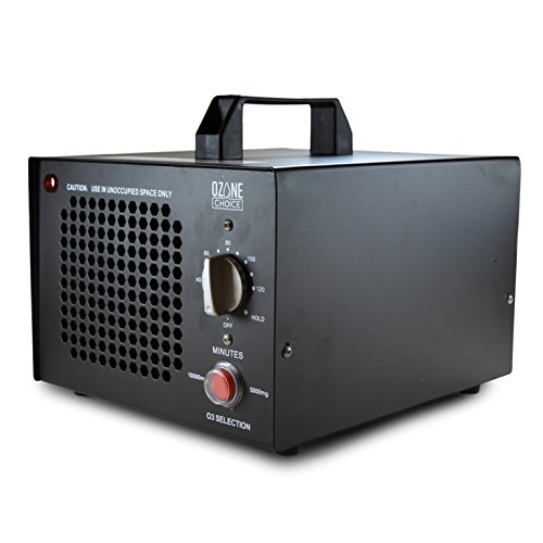 Ozone Choice Commercial Ozone Generator 5000-10000mg Industrial O3 Air Purifier Deodorizer Sterilizer (Black)