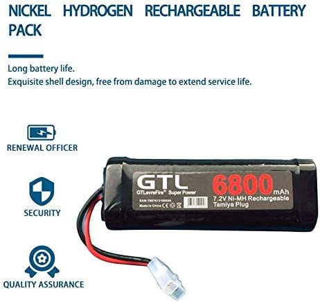ukYukiko 6800mAh 7.2V NiMh Battery Rechargeable Battery for RC Helicopter Boat Car