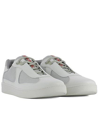 Prada Hommes Sneakers 4e316600vf0j36 En Cuir Blanc