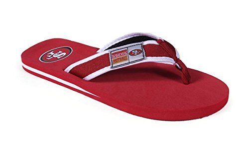SFRCTRP-4 - San Francisco 49ers - XL - Officially Licensed NFL Contour Flip (Nfl San Francisco 49ers Slipper)
