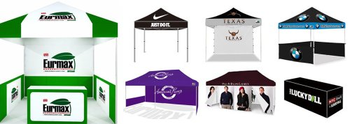 Eurmax Canopy Digital Printed Custom Canopy Ez Pop up Commercial Garden Canopy Fair Tent