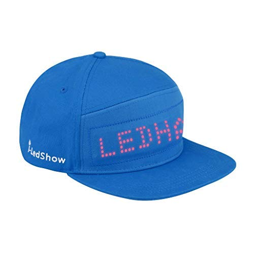 Nesee LED Light Up Hat, Colorful LED Fashion Cap LED Cool Hat with Screen Light Waterproof Smartphone Controlled (Blue)