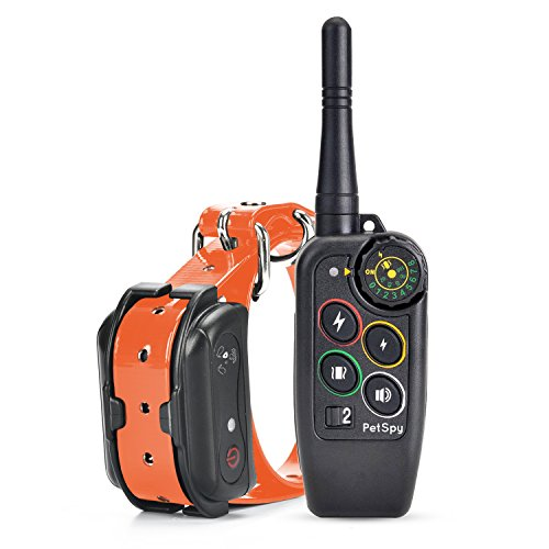 PetSpy Premium Dog Training Shock Collar for Dogs with Vibration, Shock and Beep, Rechargeable and Waterproof E-Collar - Best Remote Trainer by PetSpy