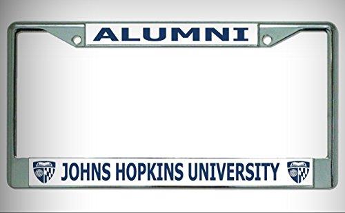 - Johns Hopkins University Alumni Chrome License Plate Framefor Home/Man Cave Decor by PrettyMerchant