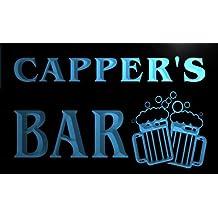 w021983-b CAPPER Name Home Bar Pub Beer Mugs Cheers Neon Light Sign