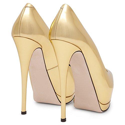 XUE Femmes Chaussures PU Printemps/Été Boucle Pointu Chaussures Bureau & Carrière Party & Soirée Stiletto Talon Formelle Business Work Noir (Couleur : C, Taille : 35) D