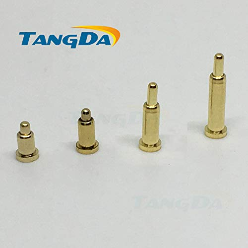 (Gimax pogo pin connector pogopin Battery spring Loaded Contact SMD needle PCB 23 4 5 6 7 8 9 10 Test Probes Gold-plated copper power - (Color: 2x9.5mm))