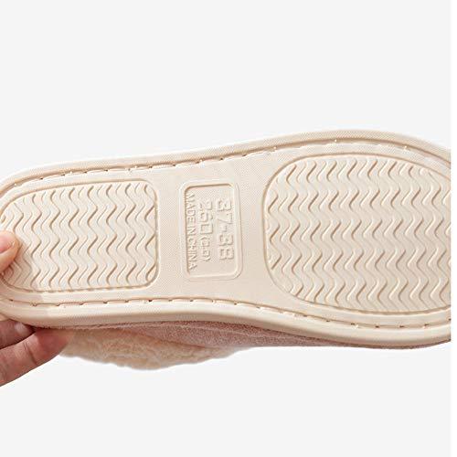 38 En Forfait Garder Intérieur Épais slip Maison Coton Ensemble Pantoufles Bas Hiver Anti Chaussures 39 Paire Yangyongli Beige qYa4Rn