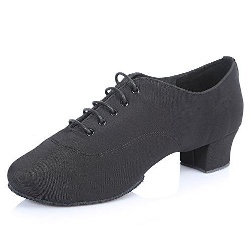 Roymall Mens Professional Latin Dance Shoes Ballroom Jazz Tango Waltz Performance Shoes Black-5 dhzG7EX1