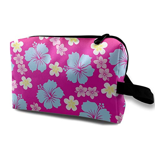Hawaiian Party Flower Print Travel Toiletry Bag -