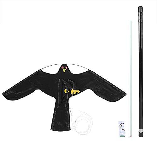 Bird Repellent - 1 PC of Scarer Flying Hawk Kite with 5m Telescopic  Pole,Extendable Bird Repeller,Flying Bird Kite Scarer